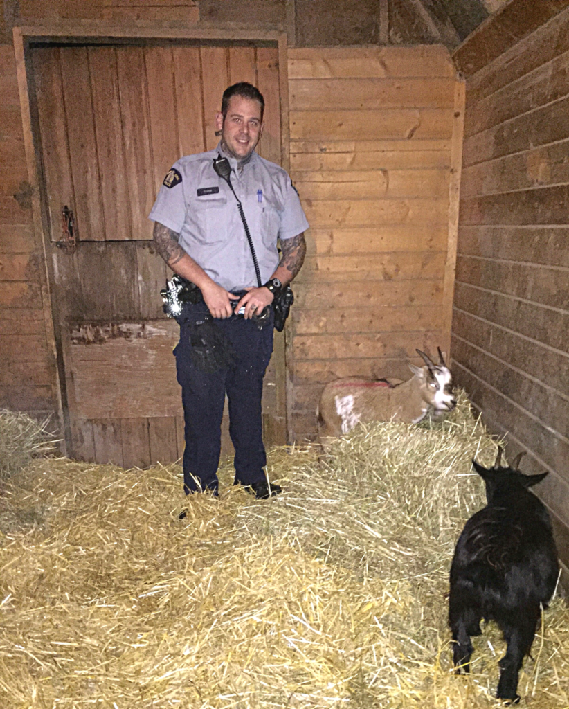 Constable Tobin with Puddin and Smudge